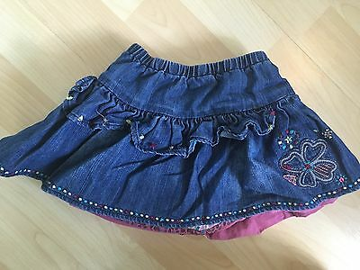 Baby Girls Denim Skirt 6-9 Months up to 21lbs by Mamas & Papas 100% Cotton