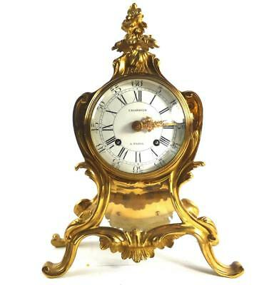 French Bronze Chardon A Paris Mantle Clock In The Louix Xv Style Swiss Movement