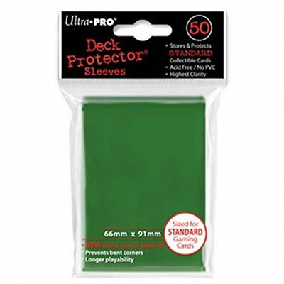 Ultra Pro SLEEVES 50 d12 Card Game (Green)