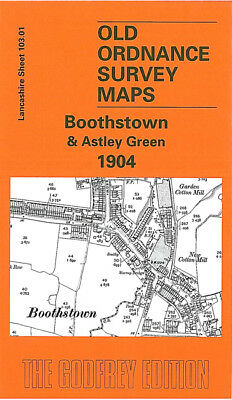 Old Ordnance Survey Map Boothstown Astley Green 1904 Stirrup Bridge Chaddock Row