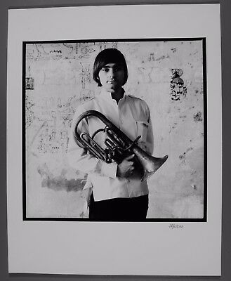 """Marty Balin 11""""X14"""" Herb Greene silver gelatin photograph signed by photographer"""