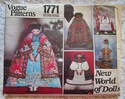 Mid Century Vogue New World Of Dolls Pattern Uncut Complete