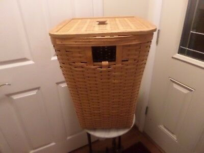 Longaberger  Large Hamper Basket With Protector And Wood Lid