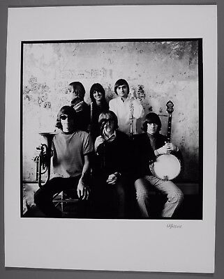 """Jefferson Airplane 11""""X14"""" Herb Greene silver gel photo signed by photographer"""