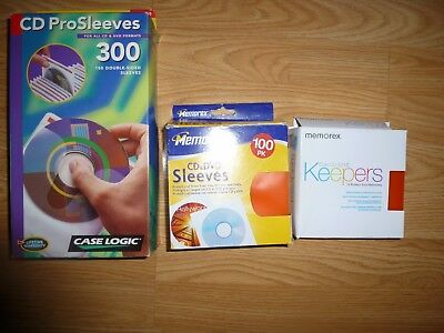 Case logic White and Memorex Multi Colored  plastic CD-DVD Sleeve =450 Sleeves