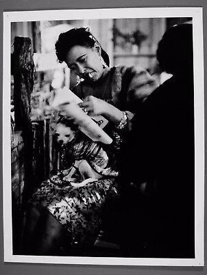 """Billie Holiday and Pepi 11""""X14"""" Jerry Stoll silver gelatin photograph"""