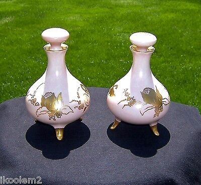 2 Antique Bernardaud - B & Co. -Limoges, France - Dresser Perfume Vanity Bottles