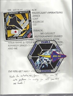 STS-124 & 130 Iron patch, From M.Lieback,Nasa Launch Director-