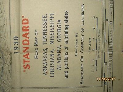 1930 Amos 'n' Andy ESSO Gas Station STANDARD OIL OF LOUISIANA Road Map TENNESSEE