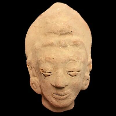 Rare Ancient Indus Valley Terracotta Bust From The Harappa Culture 1200 Bc (1)
