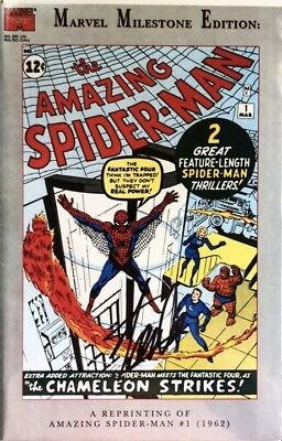 Amazing Spider-Man #1 Marvel Milestone Edition Reprint Signed By Stan Lee