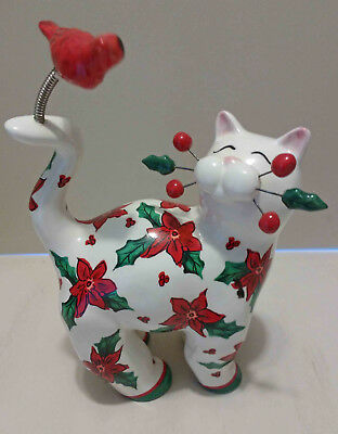 "WhimsiClay Cat Figurine (""Winter Days"") by Amy Lacombe"