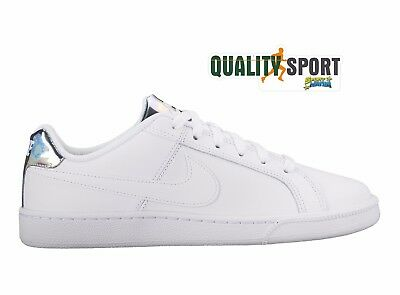NIKE COURT ROYALE Bianco Argento Scarpe Shoes Donna Sportive Sneakers  749867 109