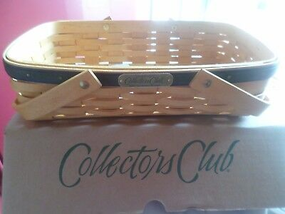 Longaberger  2001 Collectors Club Gathering Basket With Protector