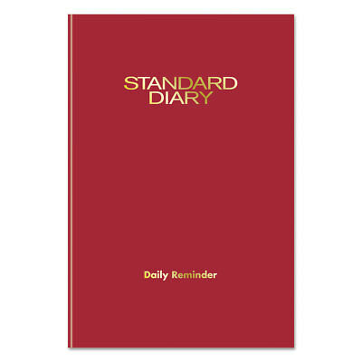 Standard Diary Recycled Daily Reminder, Red, 5 x 7 1/2, 2018 Edition
