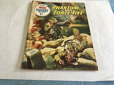 War Picture Library comic No 42 Phantom Force Five 1960