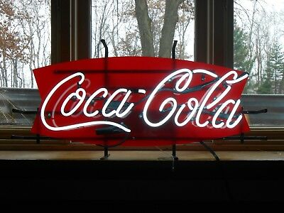 """Coca-Cola Fish Neon Sign. Very Good Condition, works and looks Great! 12""""x 27"""""""