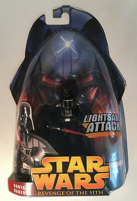 STAR WARS Episode III Action Figur: DARTH VADER (Lightsaber) - Hasbro Neu & OVP