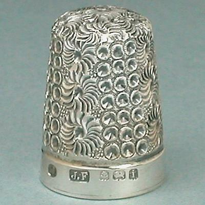Antique Blackberry Sterling Silver Thimble * English * Hallmarked 1908