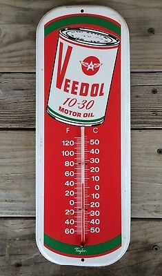 Veedol Motor Oil Advertising Thermometer 10-30 by Taylor