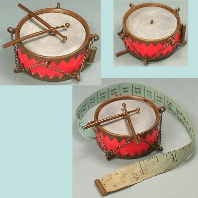 Antique Brass & Celluloid Drum Tape Measure * Germany * Circa 1900s