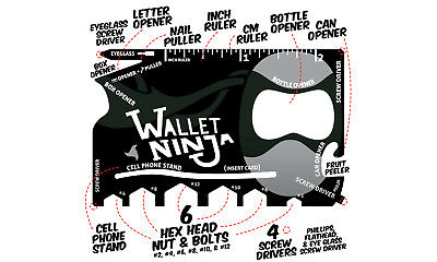 Wallet Ninja 18 in 1 Credit Card Pocket Multi-Tool DIY Xmas Stocking Filler