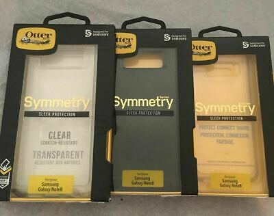 Otterbox Symmetry Case for Note 8 Black Teal Stardust Glitter Clear NEW