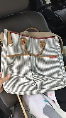 Skip Hop Duo Special Edition Diaper Bag, French Stripe - NEW