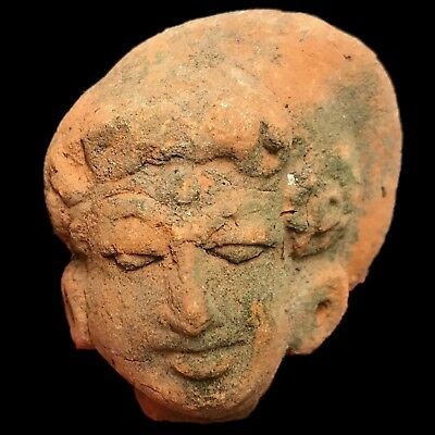 Rare Ancient Indus Valley Terracotta Bust From The Harappa Culture 1200 Bc