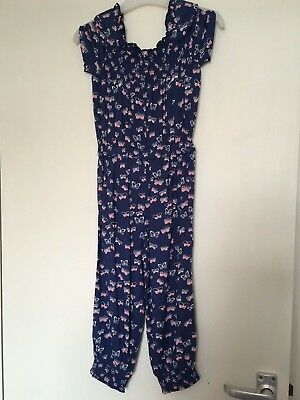 Girls Toddler Blue & Butterflies All In One Playsuit New With Tag Age 2-3 Year