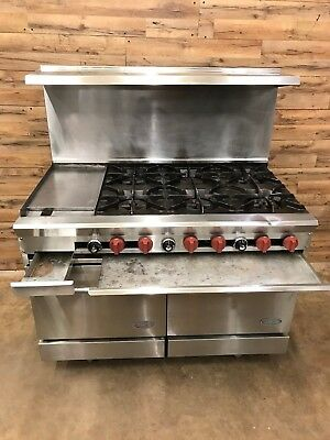"""Dynamic Cooking Systems DCS48-12G6-2N 48"""" 6 Burner Range w/ 12"""" Griddle w/ Stand"""