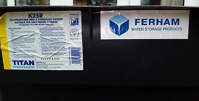 Ferham25 Gallon / 114 litre Cold Water Storage Tank with lagging and lid K25R