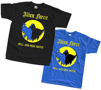 Alien Force - Hell and High Water T SHIRT sizes S - 5XL 100% cotton black blue