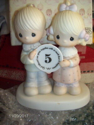 Precious Moments God Blessed Our Years Together ~ 5 Year Anniversary Figurine