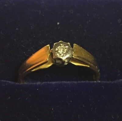 18ct Gold 18k Gold  Antique Art Deco Diamond  ring size K