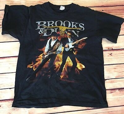 Vintage 90s Brooks And Dunn 1994 Electric Rodeo Tour T-Shirt Large Black Country