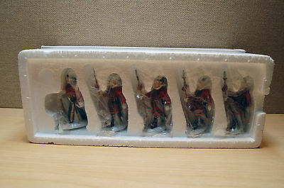 """Personal Collection, NEW-DEPT 56 Dickens-""""Yeomen of the Guard"""" Set of 5 (#58397)"""