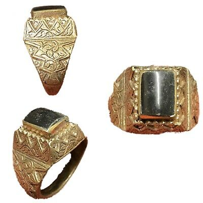 Top Quality Post Medieval Silver Ring With Black Gemstone- No Reserve!