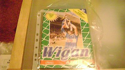 wigan athletic v runcorn 85/86 fa cup 2nd rd replay programme very good cond