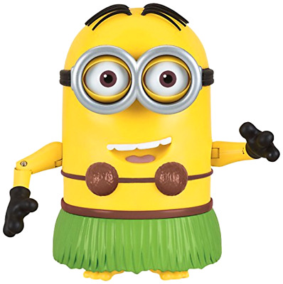 """Despicable Me Talking Hula Minion Dave Toy Action Figure 7.25"""" Kids Gift Play"""