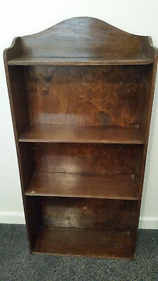 Small Bookshelf: Case Shelves Wood Vintage Retro Antique Art Deco Original