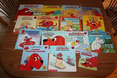 15 Clifford Big Red Dog Picture Books Lot Norman Bridwell Snow Kindergarten ABC