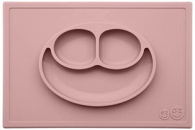 ezpz Happy Mat - One-piece silicone placemat + plate Color (PINK)