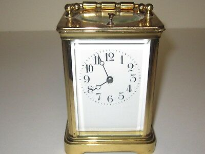 Handsome Antique 19Th Century  Brass French Repeating Carriage Clock