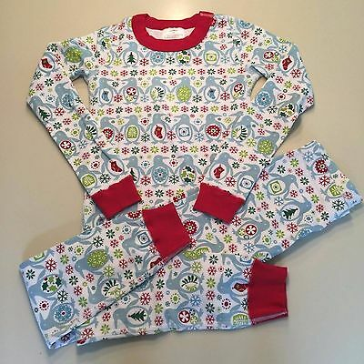 HANNA ANDERSSON Boy's-Girl's HOLIDAY Pajamas Set, 7-8 years 130, Good!! READ!!