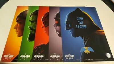 DC Justice League Posters AT&T Limited Edition FULL Set 2017 Batman Wonder Woman
