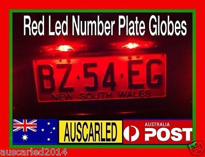 Holden VT VX VY VZ VE Commodore Calais berlina BRIGHT RED 5k LED Number Plate