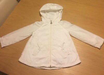 Moncler Baby Girl Lightweight White Jacket Age 2