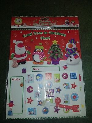 Joblot 75 X Christmas Xmas Countdown Charts Kids Novelty Gift Wholesale Stock