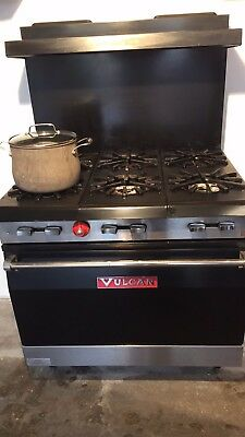 """Vulcan 36SFF-6BP Endurance 36"""" Range with 6 Burners and Bakery Depth Oven-LP"""